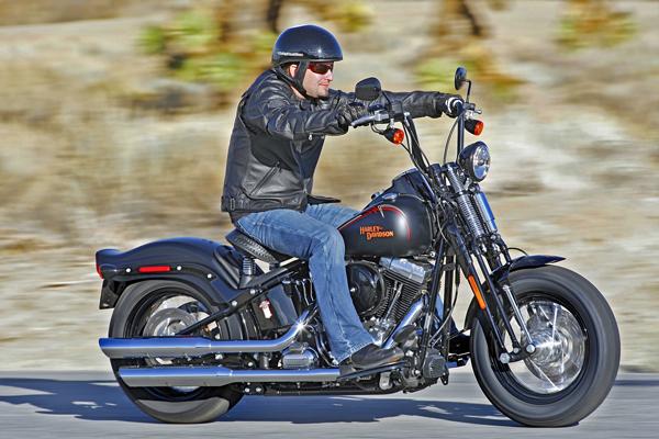 Harley-Davidson with Ape Hangers