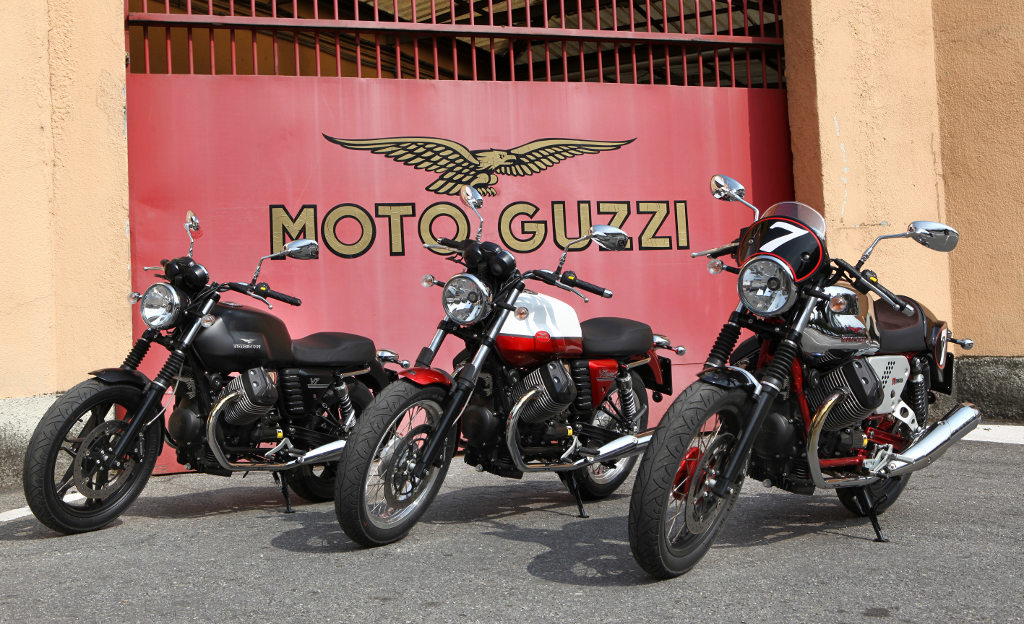 MD First Look: 2013 Moto Guzzi V7 Stone, Racer and Special