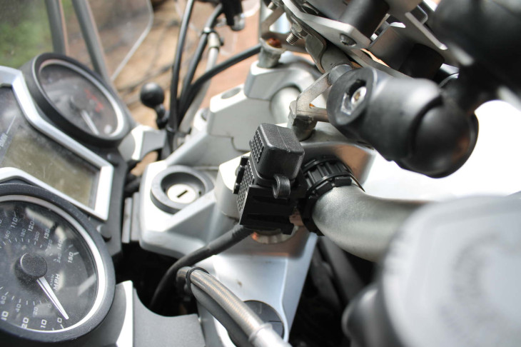 3BR Powersports USB port on the bars