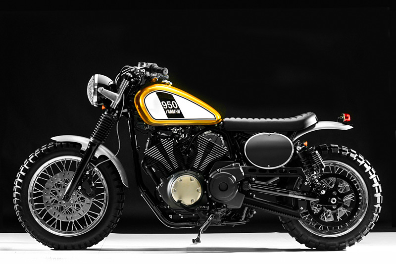 Hageman motorcycles winning bolt custom leads to for Yamaha vmax cafe racer parts