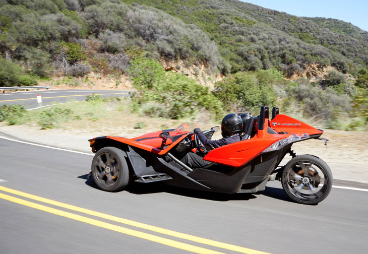 polaris unveils the slingshot a three wheeler with. Black Bedroom Furniture Sets. Home Design Ideas