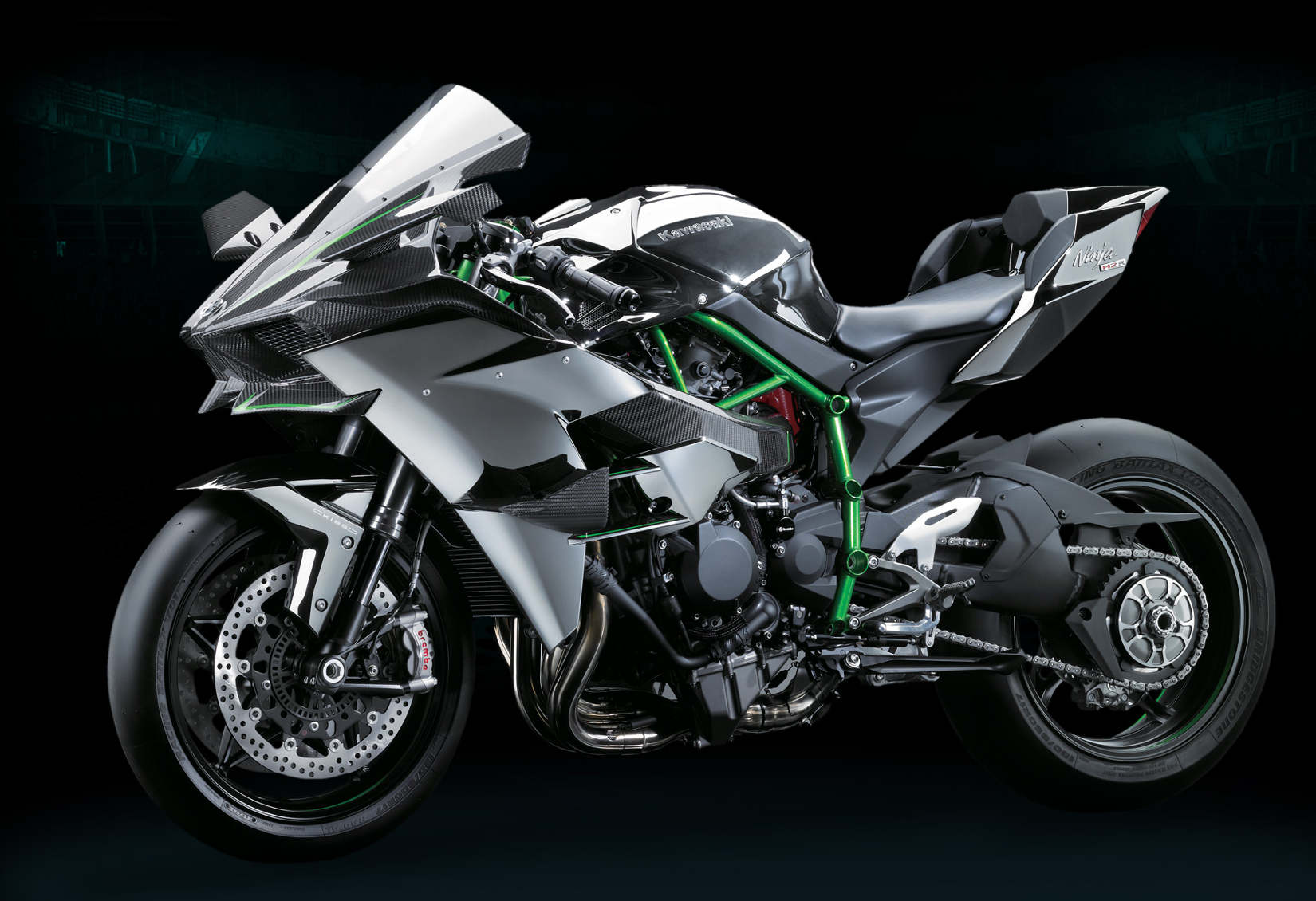 kawasaki debuts 300 hp closed course h2r street legal model debuts soon. Black Bedroom Furniture Sets. Home Design Ideas