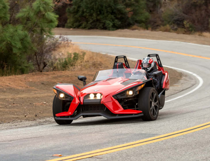 polaris slingshot md first ride drive a motorcycle. Black Bedroom Furniture Sets. Home Design Ideas