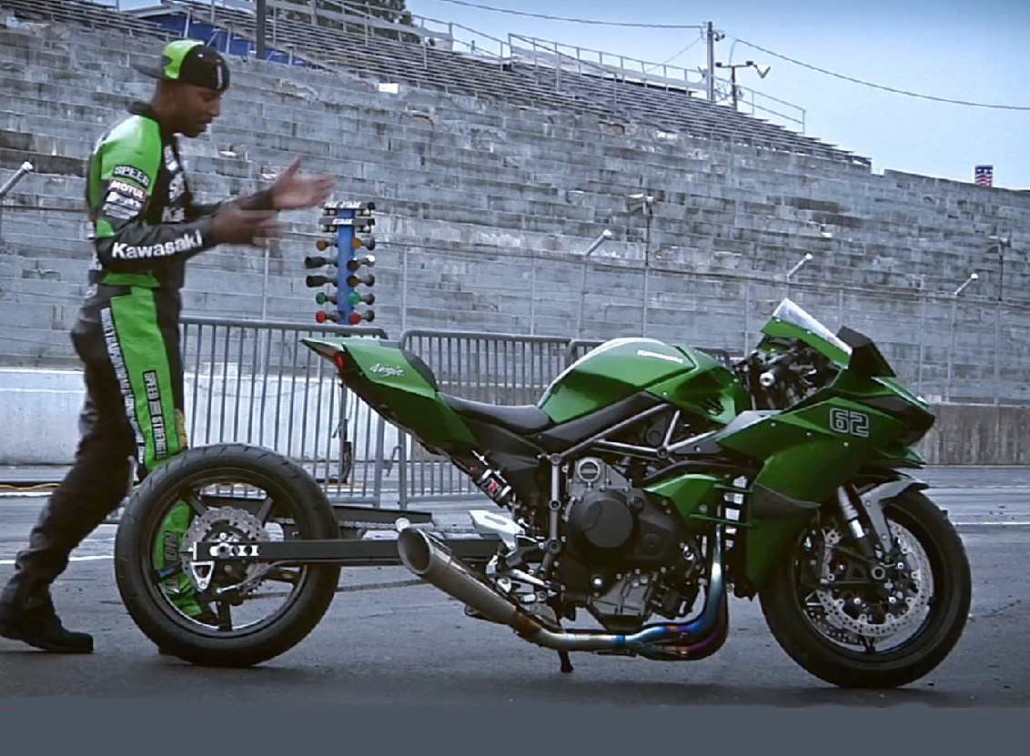 Rickey Gadson Shakes Out Modified Ninja H2 With 82 Second Quarter Mile Video