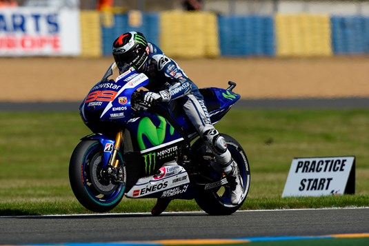 lorenzo holds second in first day of french free practice motorcycle. Black Bedroom Furniture Sets. Home Design Ideas