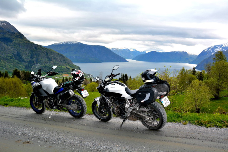 From Sogndal, we could quickly reach dirt roads that scaled the mountains at the water's edge.