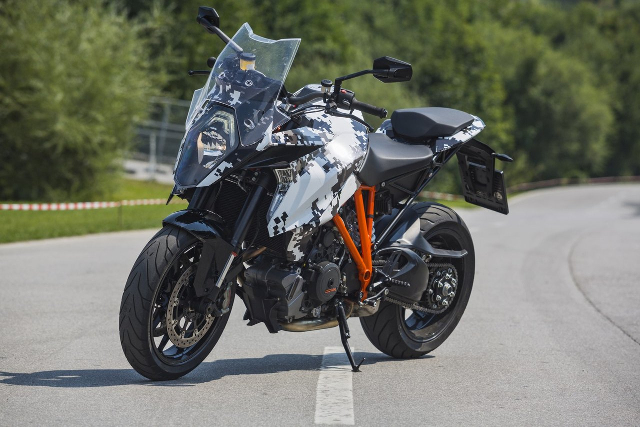 ktm releases pictures of 1290 super duke gt in prototype form