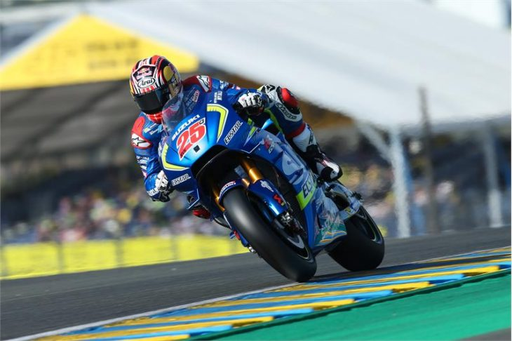 team suzuki ecstar on le mans motogp third row motorcycle news. Black Bedroom Furniture Sets. Home Design Ideas