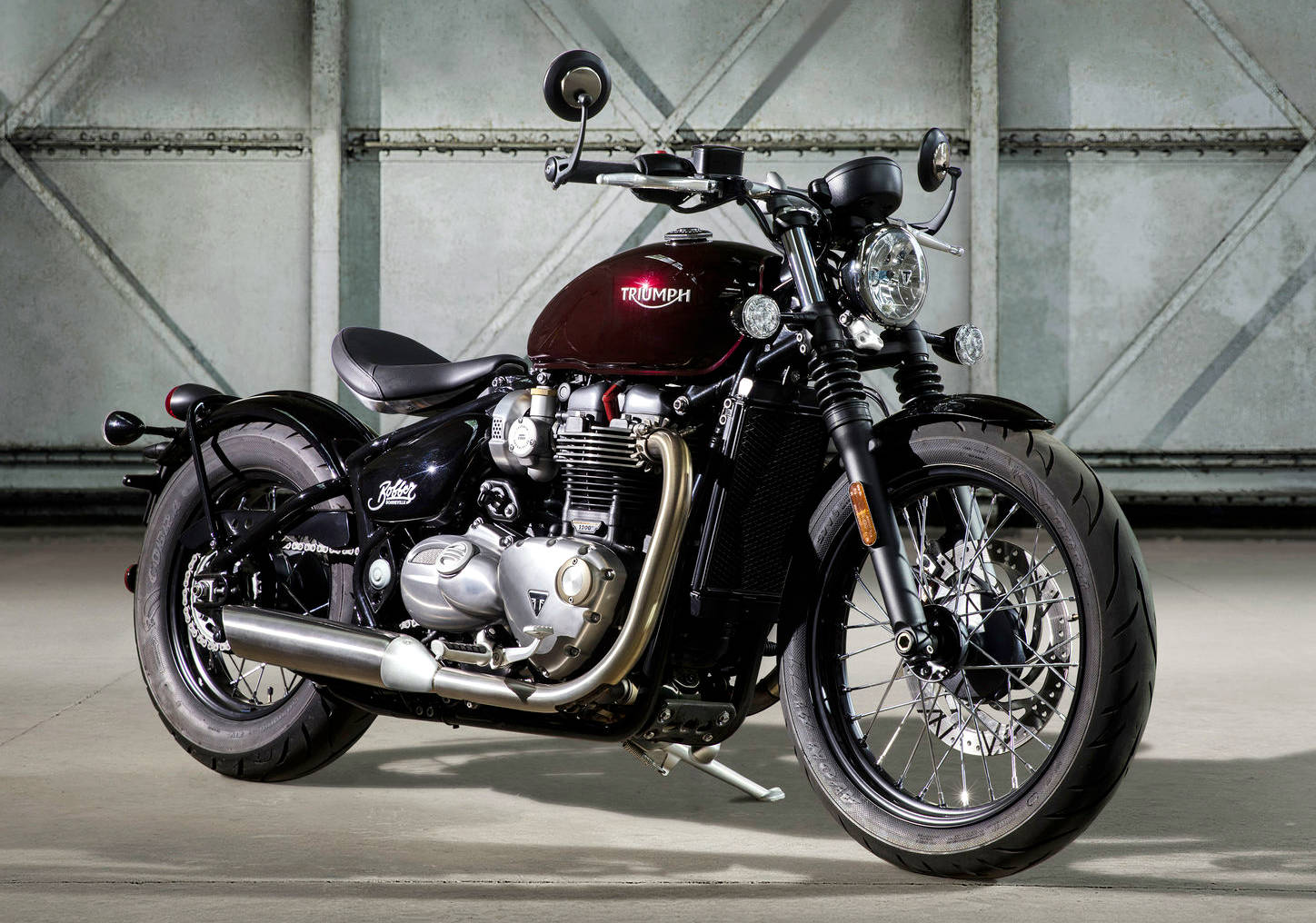 new bonneville bobber gets 1200 cc engine from t120 with video. Black Bedroom Furniture Sets. Home Design Ideas