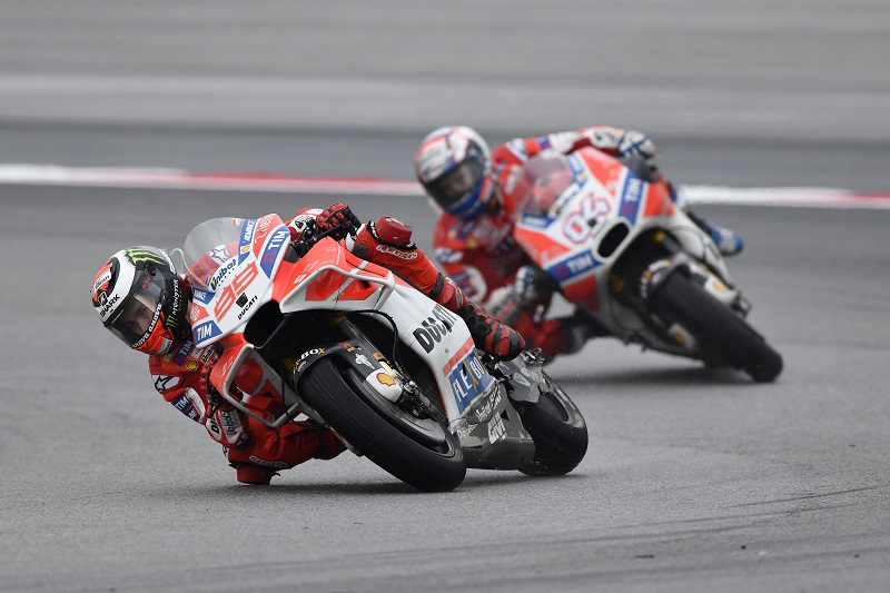 fantastic victory for ducati at sepang andrea dovizioso wins  fantastic 1 2 victory for ducati at sepang andrea dovizioso wins the shell grand prix ahead of jorge lorenzo to keep his title hopes alive