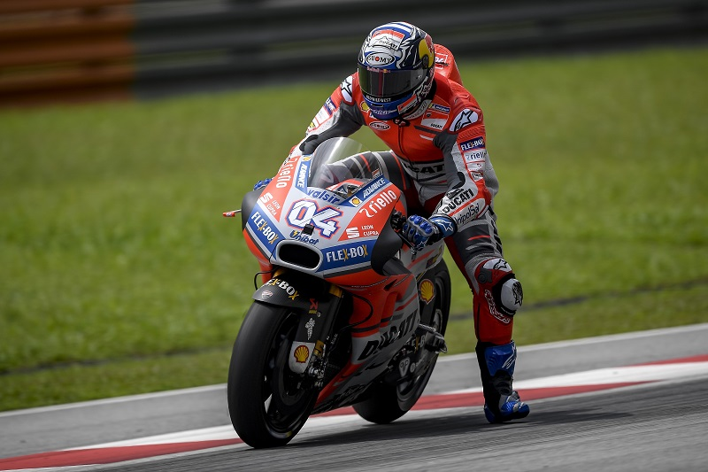 Jorge Lorenzo fourth and Andrea Dovizioso eighth on Day 2 of official MotoGP testing at Sepang ...