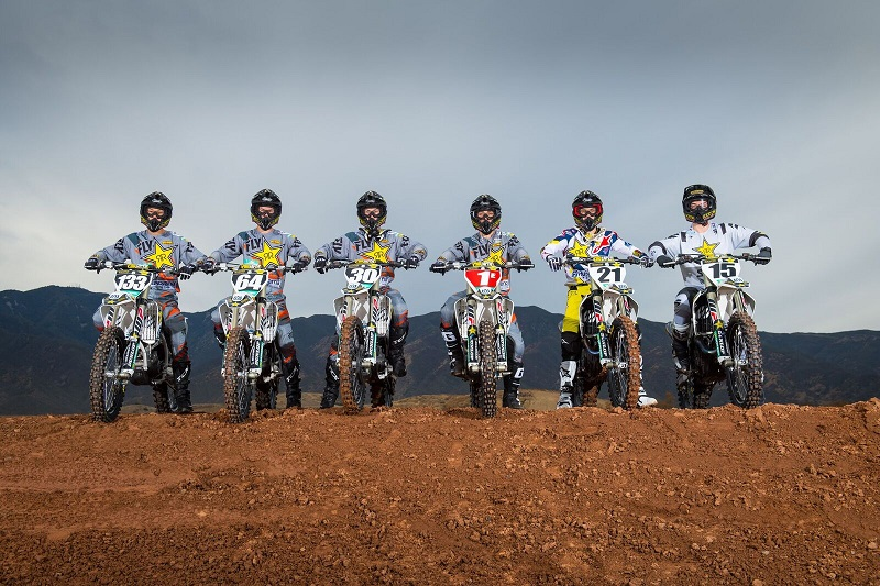 308c6eb3 Rockstar Energy Husqvarna Factory Racing is happy to release the updated  2018 Supercross team photos. With the addition of a new sponsor, MOTOREX,  ...