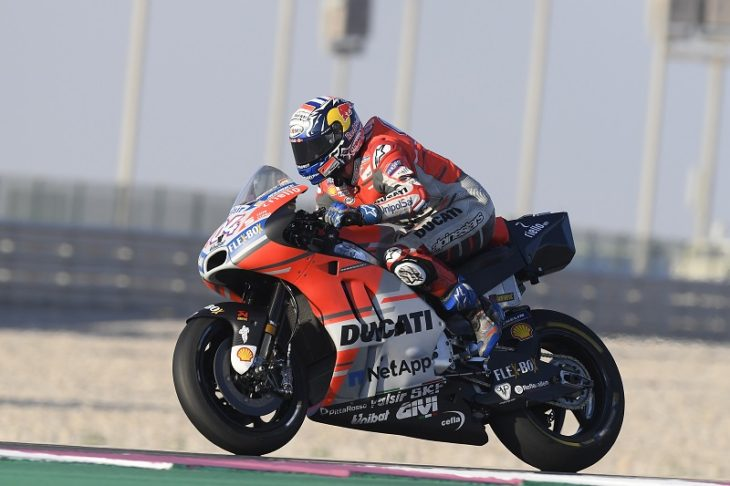 MotoGP official testing comes to an end at the Losail circuit in Qatar with Andrea Dovizioso ...