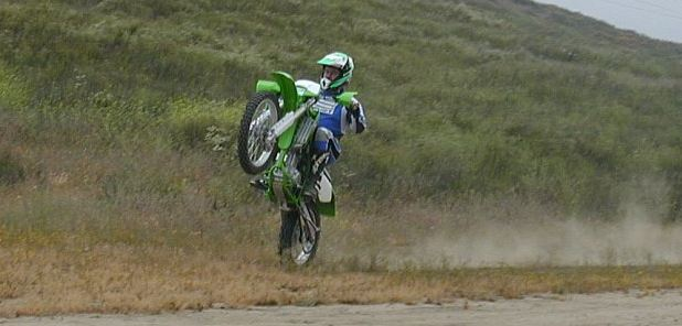 Wheelies are a snap . . . some clutch required.