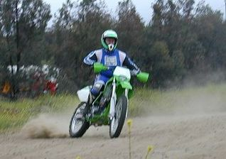 . . . but corners are where the KLX rules.