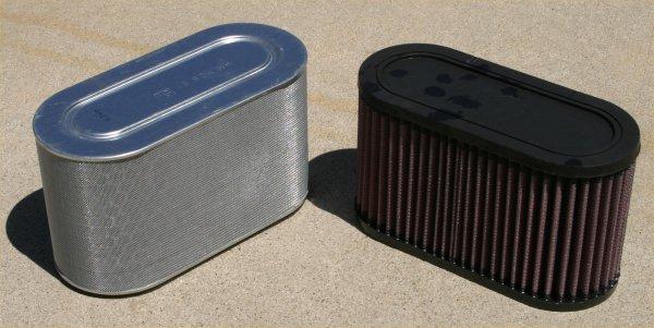 Stock Filter vs. K&N Filter