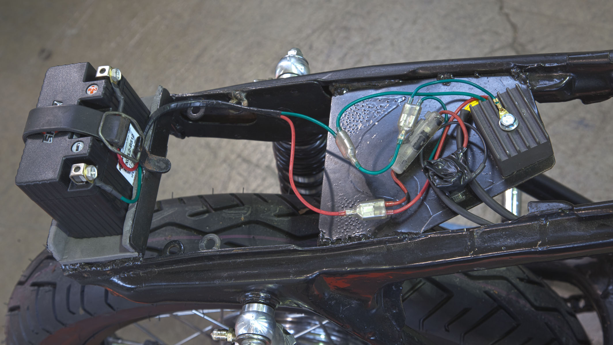 Cb350 Wiring Harness 20 Diagram Images Diagrams 1969 012412 2 Md Project Cafe Racer Part Iv Motorcycledaily Com At