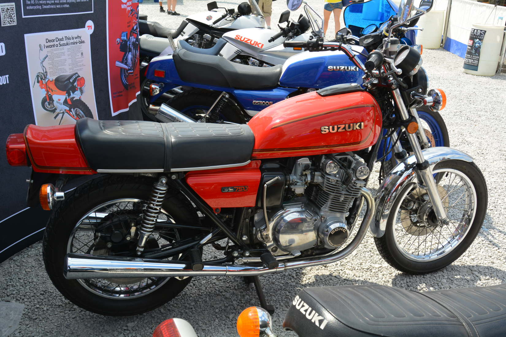 Suzuki Celebrates 50 Years In The United States And A Rebirth Motorcycle Gs Custom 091313middle13