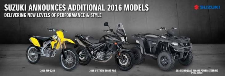 Suzuki 2016 models