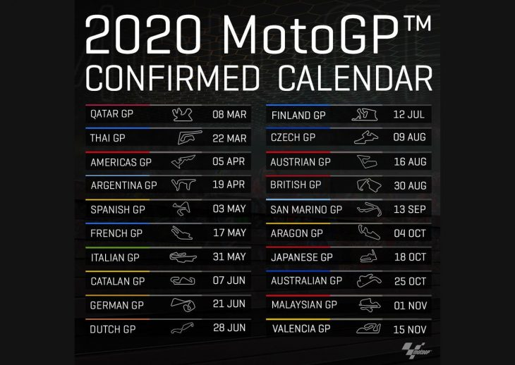 Coronavirus Travel Restrictions Force Cancellation Of Motogp Opener At Qatar Update Concerning Thai Gp And Remaining Races Motorcycledaily Com Motorcycle News Editorials Product Reviews And Bike Reviews